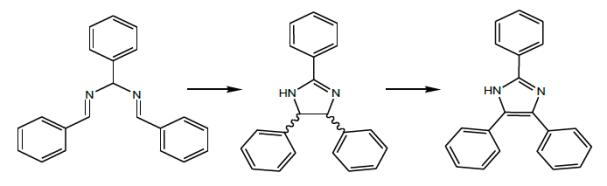 Rys. 2. Przemiana hydrobenzamidu w lofinę