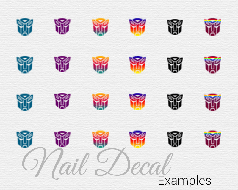 Transformers Nails with DIY Nail Decals | Bionic Beauty™