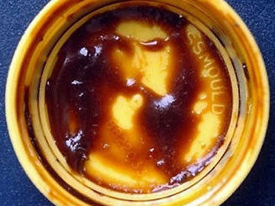 Marmite Jesus is made out of toast spread.