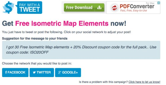 Get Elements by paying with a tweet or a Facebook share.