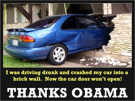 Now the car door won't open - Thanks Obama!