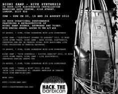Bioni Samp - Hive Synthesis, 24 Hour Live Electronics Installation