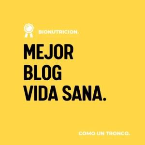 Premio Bionutricion Ortomolecular Mejor Blog Vida Sana