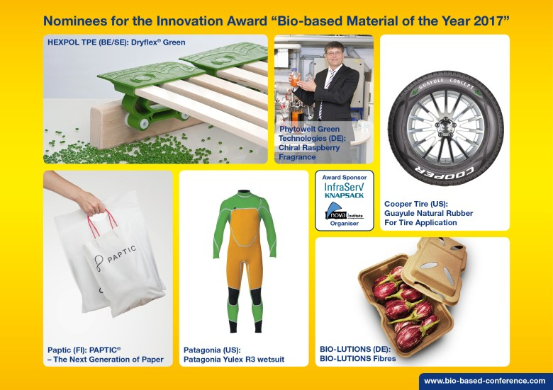 award biobased material 2017