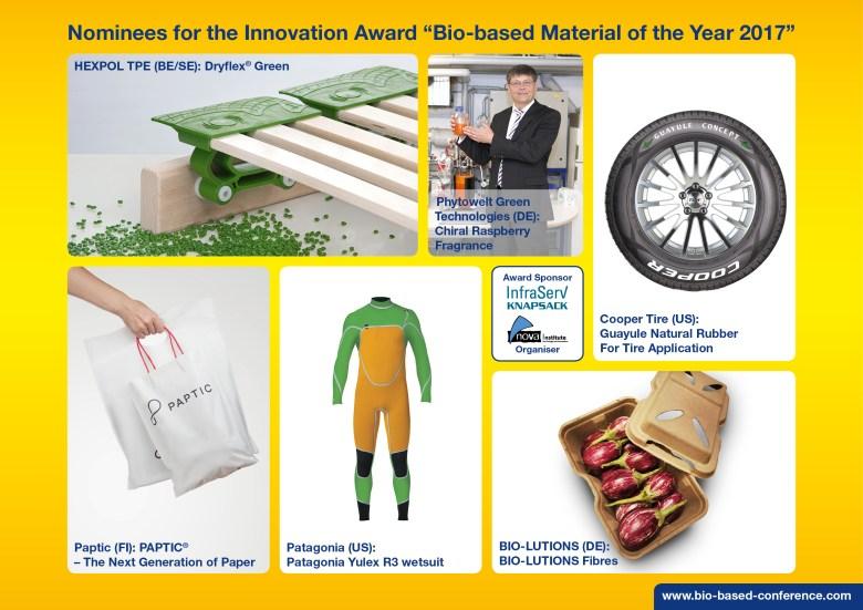 award biobased material 2017