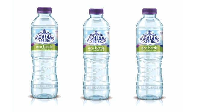 highland spring recycled eco bottle