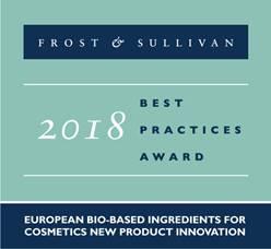 frost sullivan bio-on award cosmetics