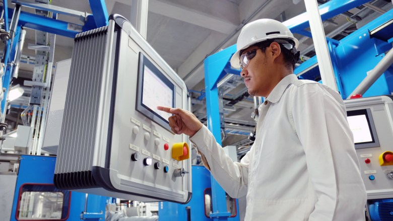 Operator in Total Corbion PLA plant Rayong Thailand