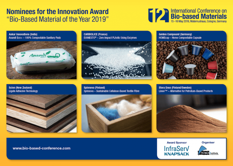 Innovation Award 2019 Bio-based Material of the Year 2019