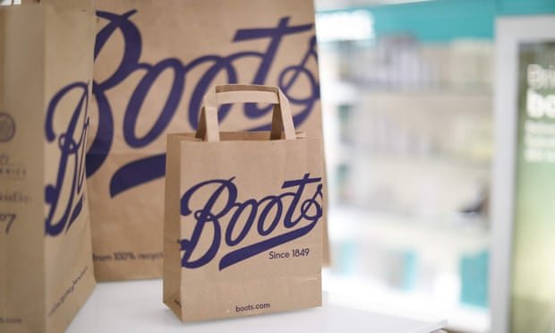Boots plastic and paper bags