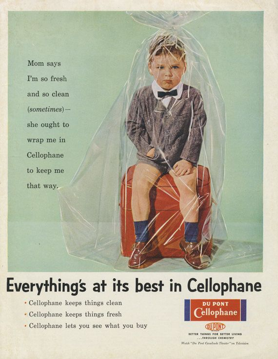 Cellophane Advertising by Dupont in 1956