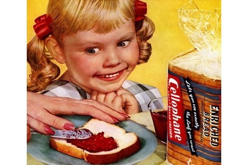 Cellophane Bread Advertising