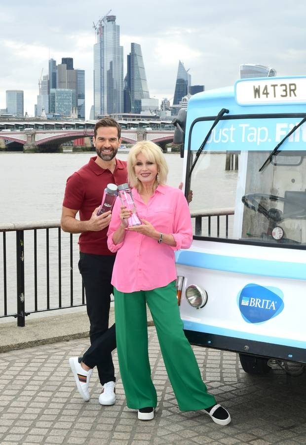 Gethin Jones and Joanna Lumley (Ian West/PA)