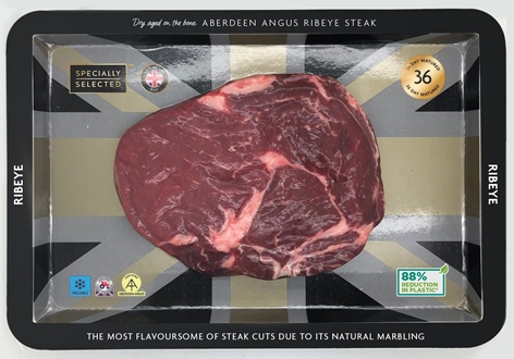 aldi cardboard packaging steak