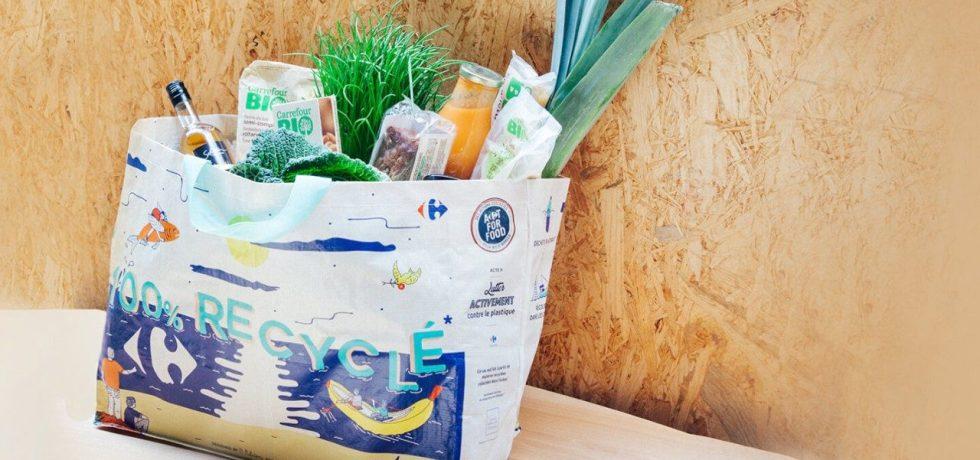 Carrefour ocean plastic shopping bags