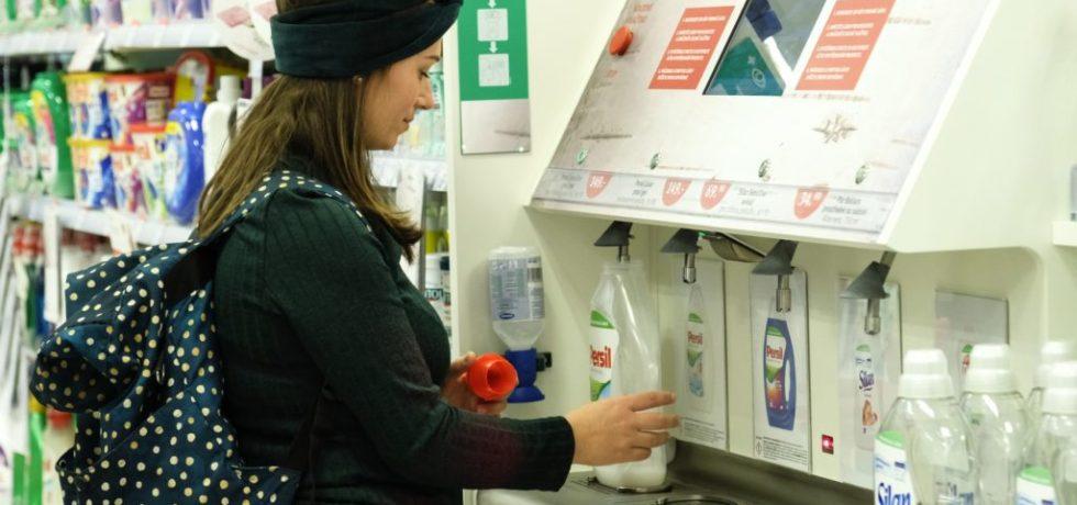 Henkel deteregent refill stations