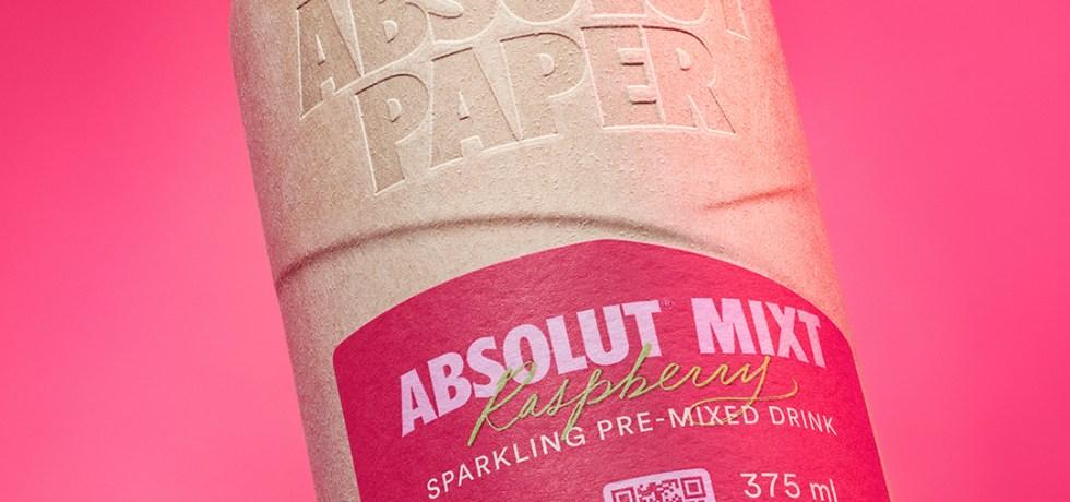absolut paper bottle