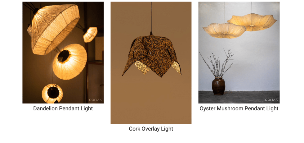 banana fibre lights design
