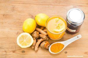 куркума-лимон-мед-сок