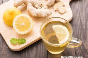 джинджифил-чай-лимон