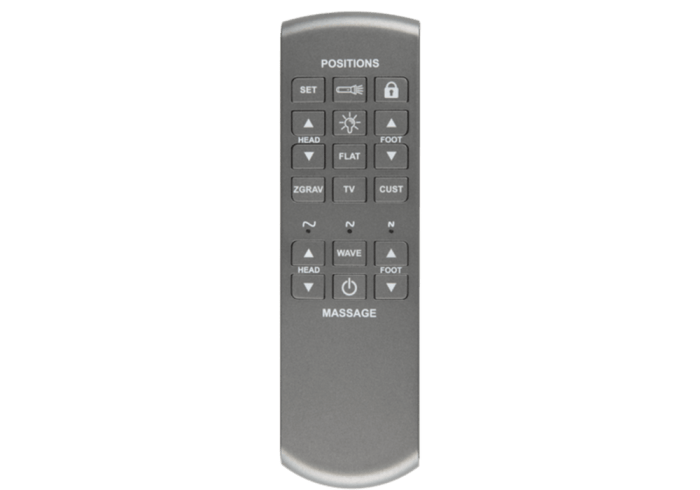 Remote control for kinetic sleep system