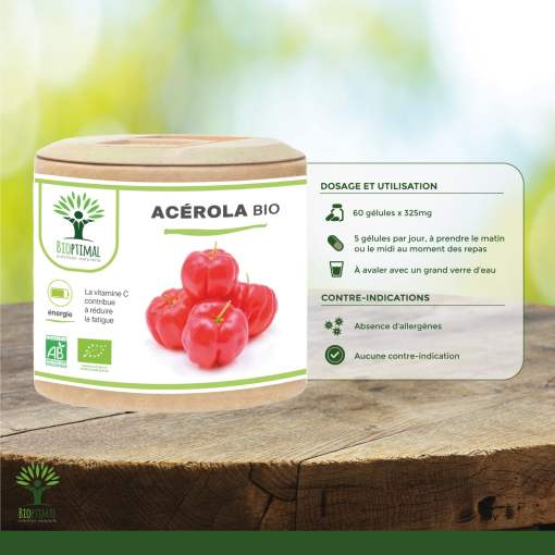 Utilisation Acérola Bio