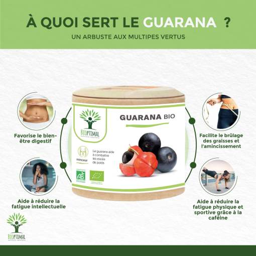 Bienfaits Guarana bio