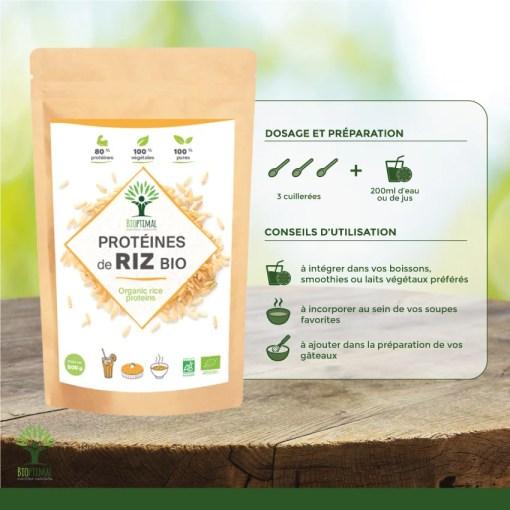 Utilisation protéines de riz