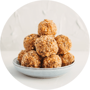 Energy balls mûres blanches
