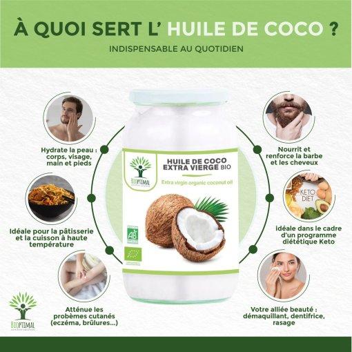 Bienfaits huile de coco bio