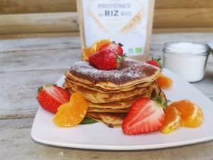 Pancakes vegan à la protéine de riz