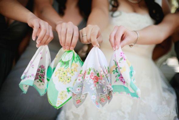 Vintage Handkerchiefs :  wedding handkerchiefs vintage hankies hanky bridesmaid gifts accessories Floral Hankies