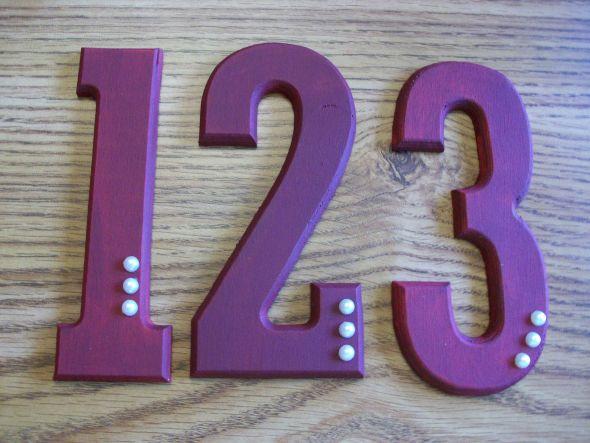 Wooden Table Numbers :  wedding diy table numbers 100 0882