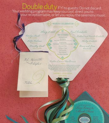 Wedding Ceremony Program Fan TEMPLATE Weddingbee