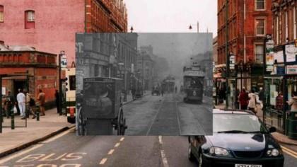 Carrington Street, Nottingham with 1902 inset