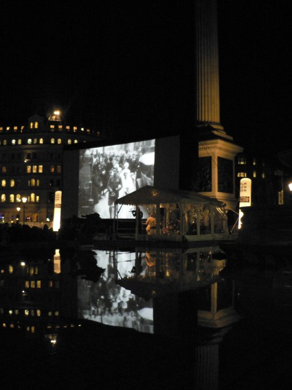London Loves screening in Trafalgar Square