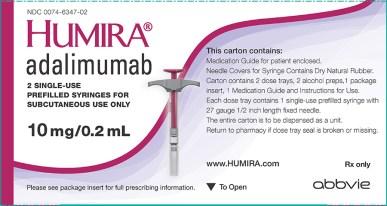 Abbvie produces Humira (adalimumab)
