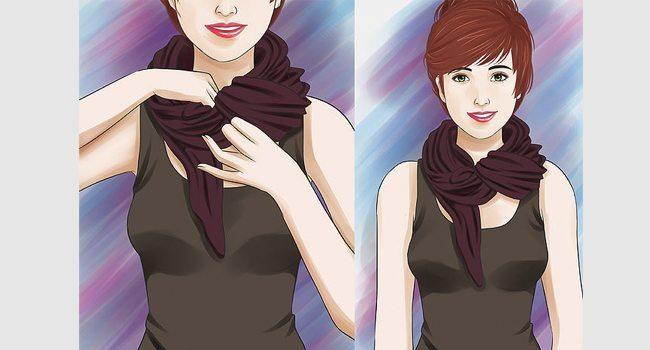 10 métodos estilosos para amarrar uma echarpe cachecol lenco 7 4