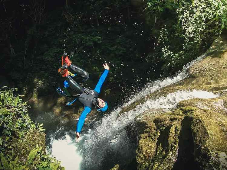 canyoning entre amis léoncel