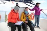 Recording sperm whale data (taken by Craig Turner)