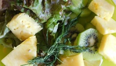 Zielony koktail owocowy