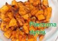 Pieczona dynia lub frytki z dyni
