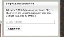 Hinweisbeispiel btp Email Abo