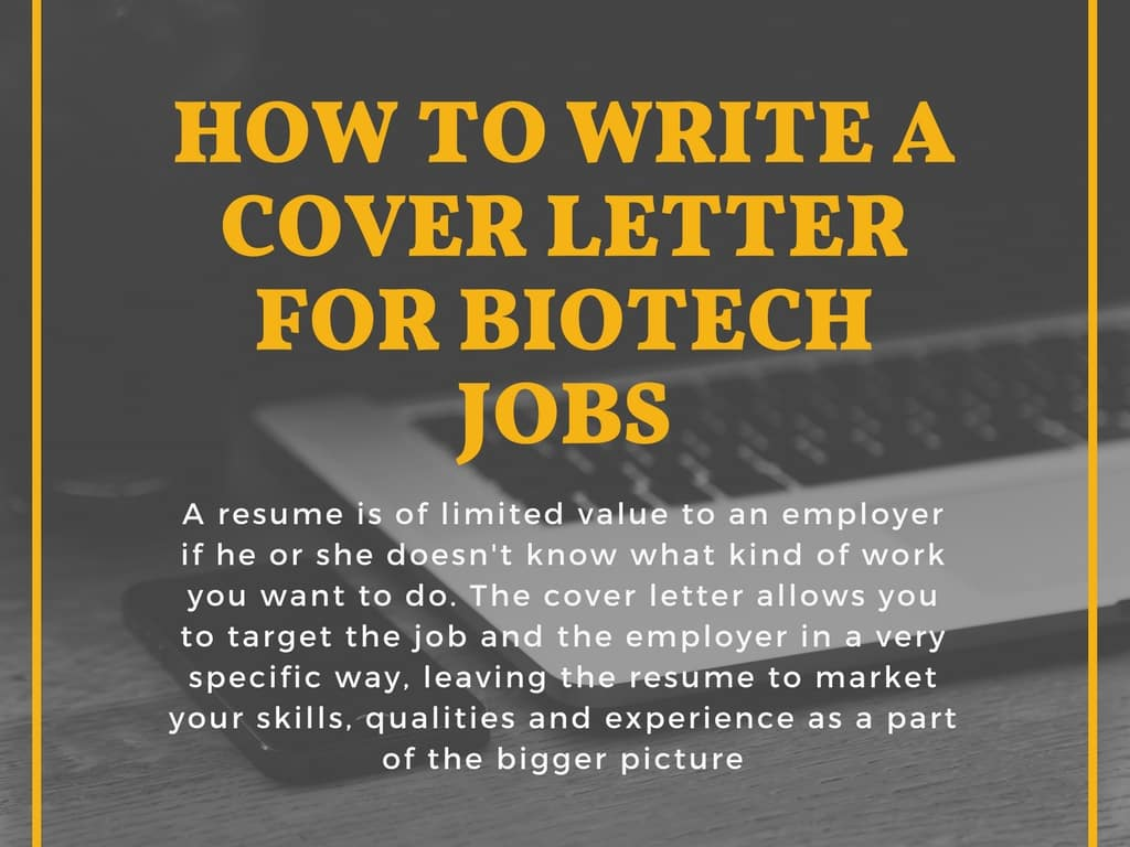 how to write perfect cover letter for biotech job