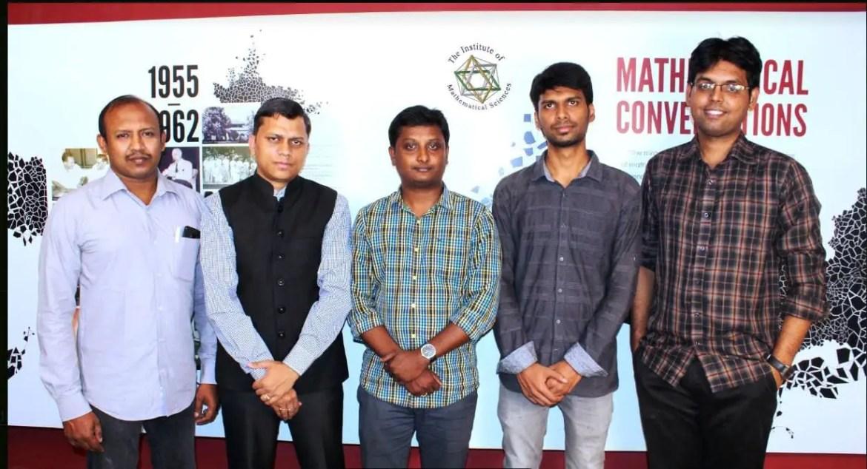 Research team (From left to right): P. Mangalapandi, Areejit Samal, B.S. Karthikeyan, M. Karthikeyan and R.P. Vivek-Ananth