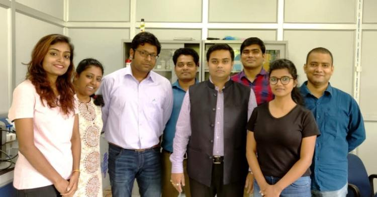 Pranjal Chandra with his team