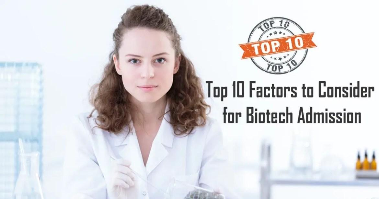 Biotech Admission