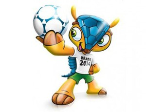 Fuleco - the mascot of the 2014 FIFA World Cup .