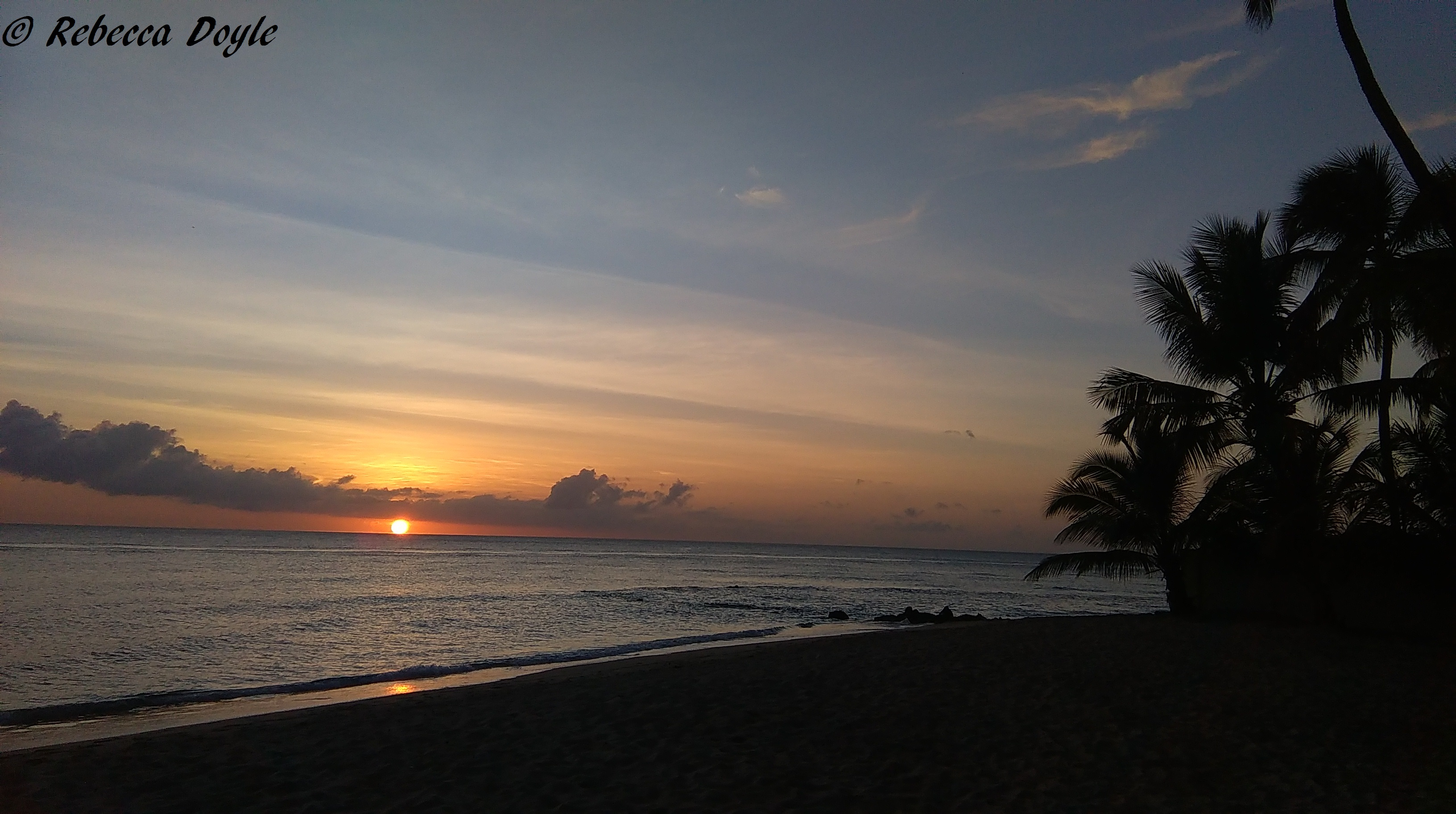 One of the many perks of the job - a beautiful Barbados sunset
