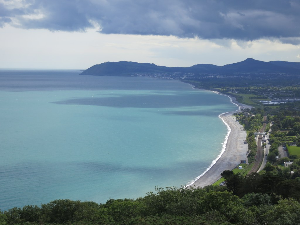 Views of Dublin bay on a Wildflower Walk on Killiney Hill, September 2014.